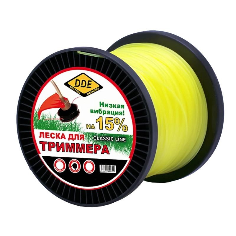 Леска для триммера DDE Classic Line 3.0mm x 240m Yellow 241-932 гибкий вал dde 241 697 zx35 1 5м