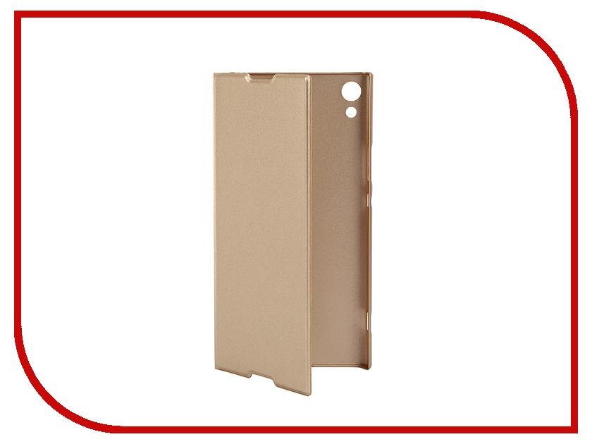 Купить Аксессуар Чехол для Sony Xperia XA1 Ultra Brosco PU Gold XA1U-BOOK-GOLD