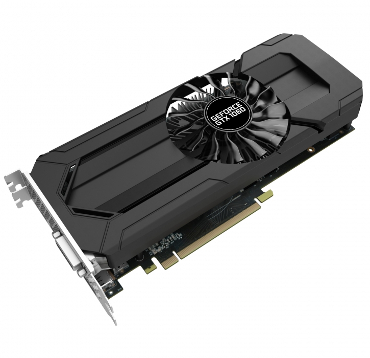 видеокарта asus geforce gtx 1060 turbo 1506mhz pci e 3 0 6144mb 8008mhz 192 bit dvi 2xhdmi hdcp turbo gtx1060 6g Видеокарта Palit GeForce GTX 1060 StormX 1506Mhz PCI-E 3.0 3072Mb 8000Mhz 192 bit HDMI HDCP NE51060015F9-1061F