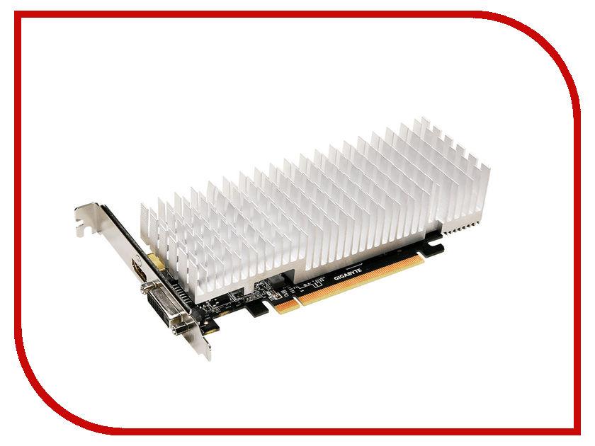 Видеокарта GigaByte GeForce GT 1030 1227Mhz PCI-E 3.0 2048Mb 6008Mhz 64 bit DVI HDMI HDCP Silent Low Profile GV-N1030SL-2GL
