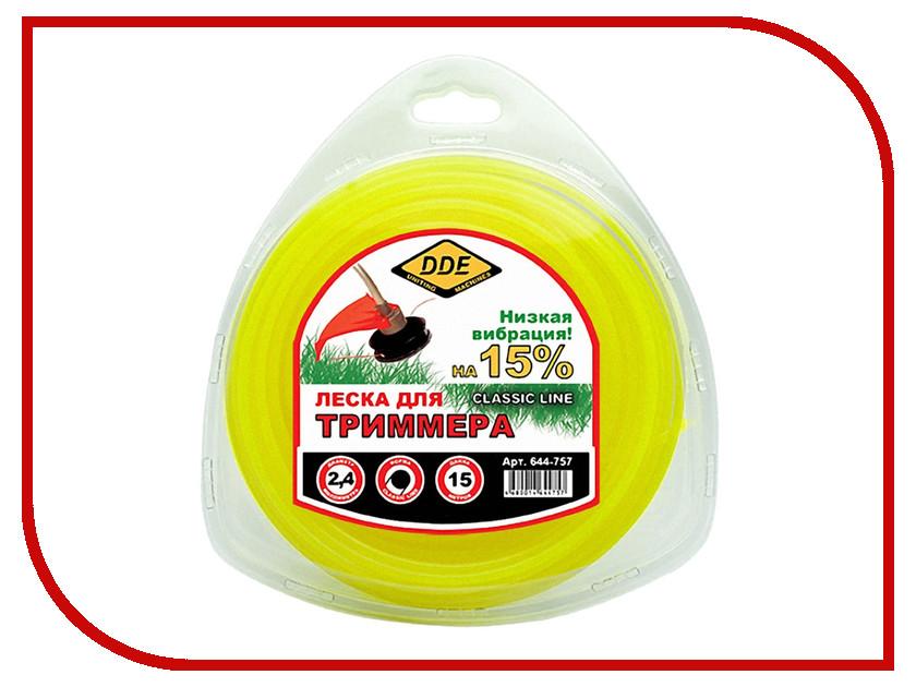 Купить Аксессуар Леска для триммера DDE Classic Line 2.4mm x 15m Yellow 644-757
