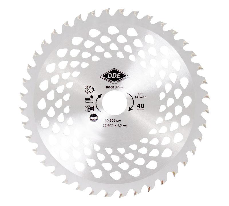 Нож для кустореза DDE Wood Cut 40/200/25.4/20mm 241-406 гибкий вал dde 241 697 zx35 1 5м