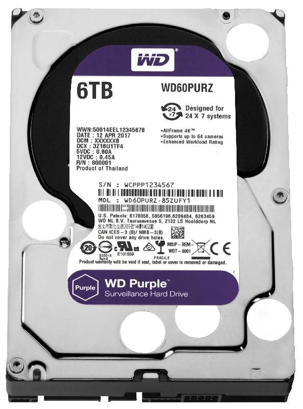 Жесткий диск Western Digital 6Tb Purple WD60PURZ