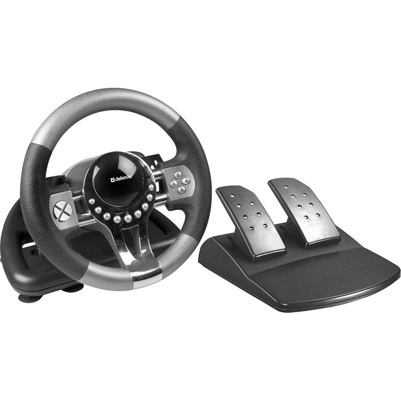 игровой руль thrustmaster ferrari Руль Defender Forsage GTR USB 64367