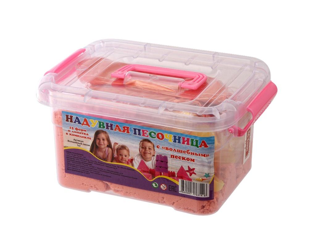 пластишка тесто для лепки Набор для лепки Магникон Надувная песочница с волшебным песком 1 kg 4660007763146