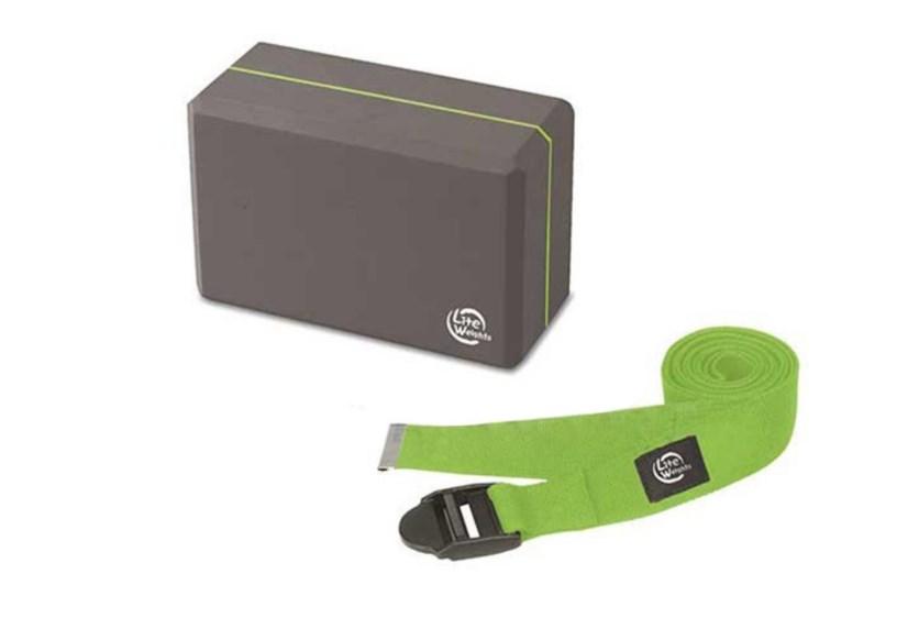 Набор для йоги Lite Weights Grey-Light Green 5490LW