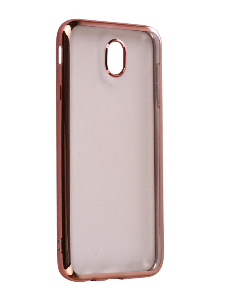 галакси j7 Аксессуар Чехол для Samsung Galaxy J7 2017 iBox Blaze Silicone Pink frame