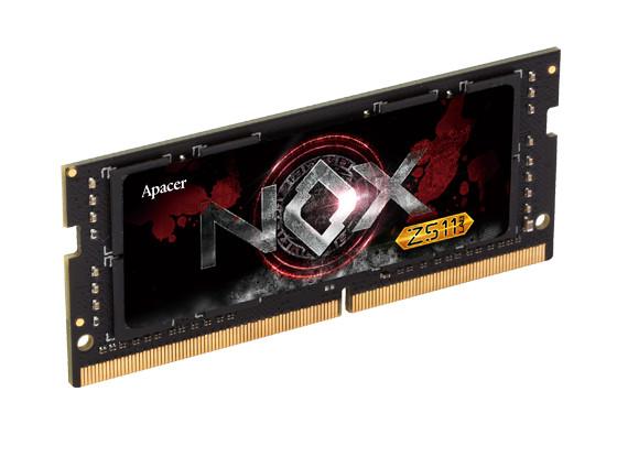 Купить Модуль памяти Apacer NOX SO-DIMM DDR4 2400MHz PC4-19200 CL16 - 8Gb ES.08G2T.GEE, PC4-19200 NOX SO-DIMM DDR4