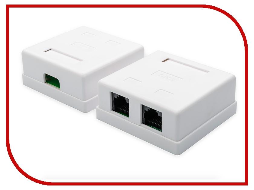 Купить Розетка ATcom 2 порта накладная White АТ1012, АТ1012 розетка 2 порта накладная