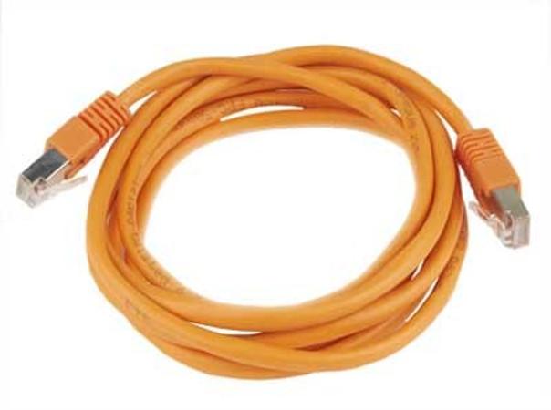 Сетевой кабель Gembird Cablexpert FTP cat.5e 0.5m Orange PP22-0.5M/O  - купить со скидкой