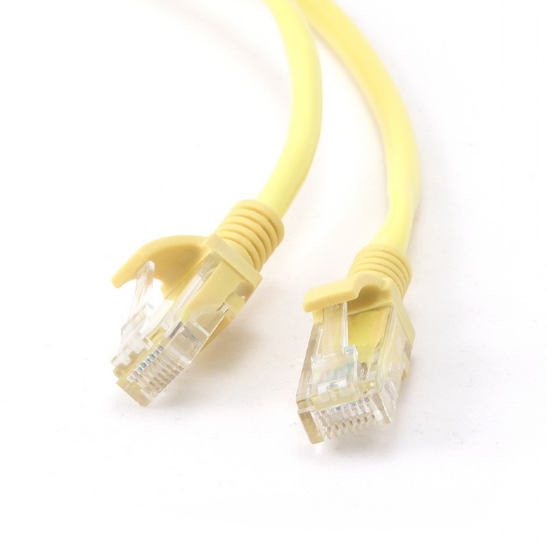 Сетевой кабель Gembird Cablexpert UTP cat.5e 1m Yellow PP12-1M/Y  - купить со скидкой
