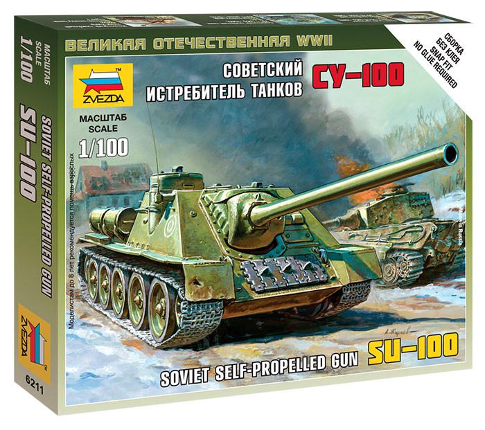 сборная модель zvezda советский тяжелый танк т 35 5061 Сборная модель Zvezda Советский истребитель танков СУ-100 6211