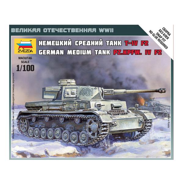 сборная модель zvezda советский тяжелый танк т 35 5061 Сборная модель Zvezda Немецкий танк T-IV F2 6251
