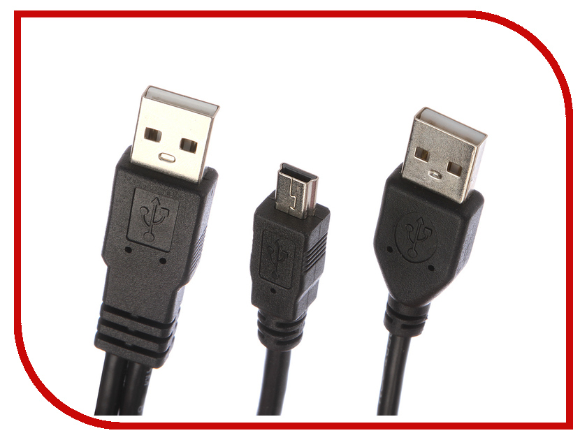 Купить Аксессуар Gembird Cablexpert 2xUSB - miniUSB 90cm CCP-USB22-AM5P-3
