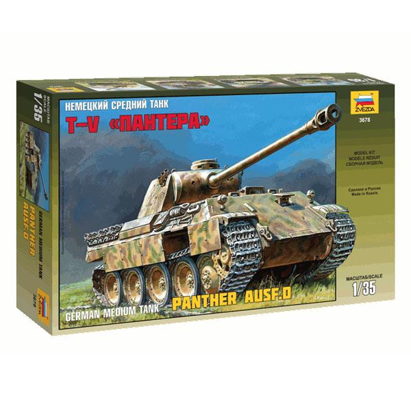 сборная модель zvezda советский тяжелый танк т 35 5061 Сборная модель Zvezda Немецкий средний танк Пантера 3678