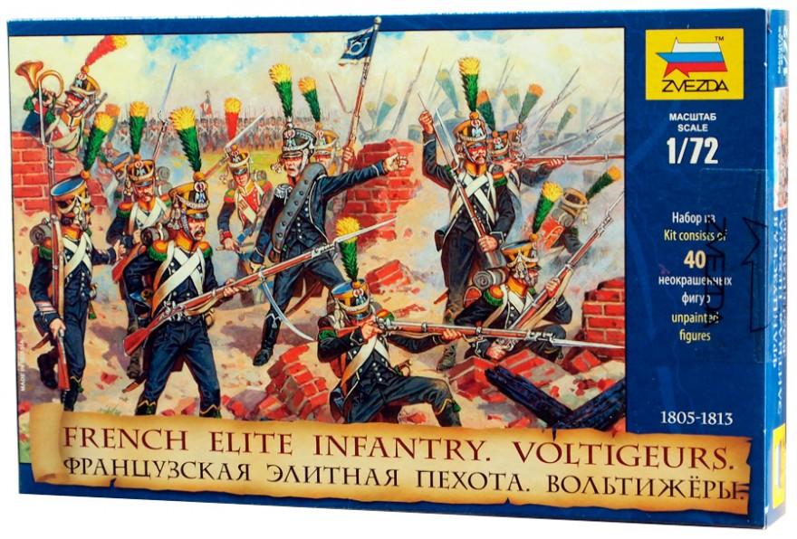 Сборная модель Zvezda Французская элитная пехота Вольтижеры 8042  - купить со скидкой
