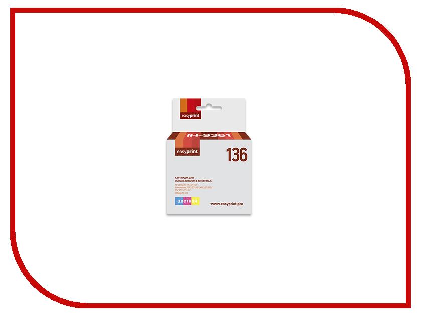 Купить Картридж EasyPrint IH-9361 №136 для HP Deskjet 5443/D4163/Photosmart 2573/C3183/C4183/D5163/PSC 1513/1513S/Officejet 6313