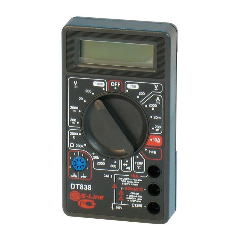 3 dt Мультиметр S-Line DT-838