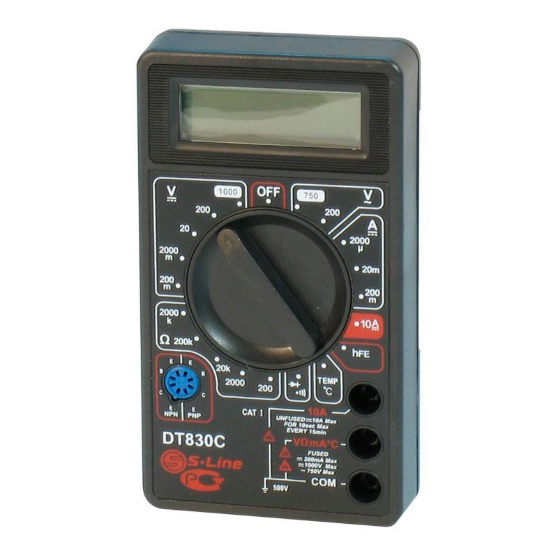 Мультиметр S-Line DT-830C мультиметр s line va20