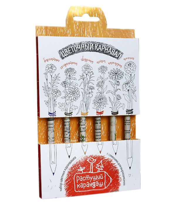 rolsen rk 1050cr Растение Растущий карандаш Цветочный карнавал цветные 6шт RK-02-06-10
