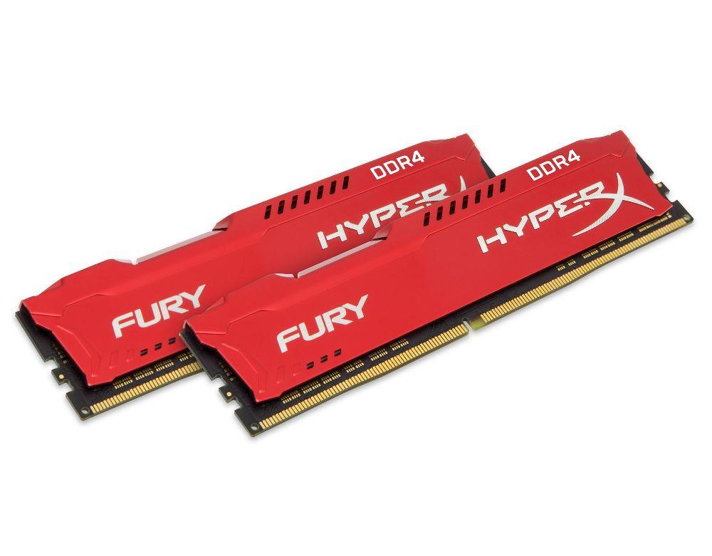Купить Модуль памяти Kingston HyperX Fury Red DDR4 DIMM 2666MHz PC4-21300 CL16 - 16Gb KIT (2x8Gb) HX426C16FR2K2/16