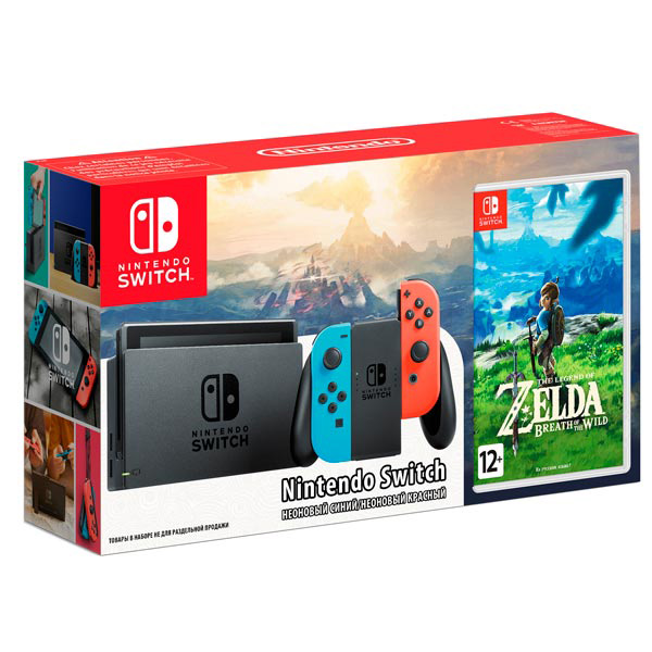 Купить Игровая приставка Nintendo Switch Red-Blue + Legend of Zelda: Breath of the Wild, Switch + Legend of Zelda: Breath of the Wild