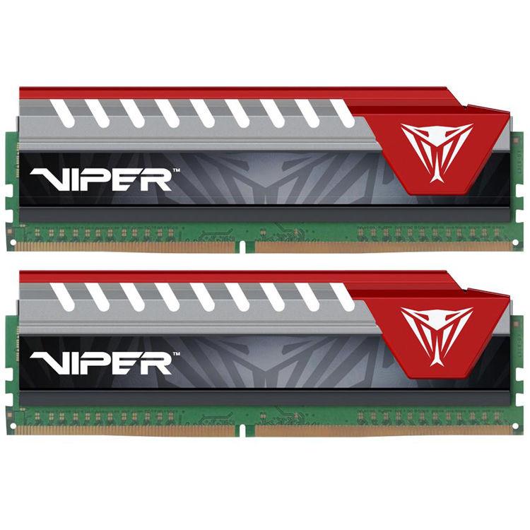 Купить Модуль памяти Patriot Memory Viper Elite DDR4 DIMM 2800MHz PC4-22400 CL16 - 16Gb KIT (2x8Gb) PVE416G280C6KRD Red