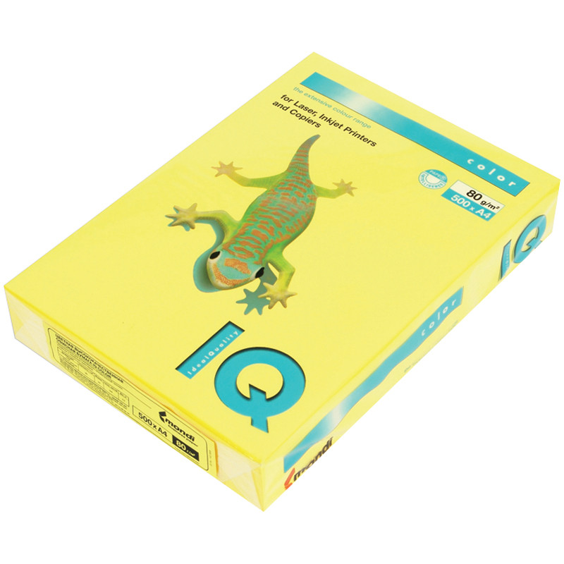 бумага color lock Бумага IQ Color Intensive А4 80g/m2 500л Canary Yellow CY39 083951