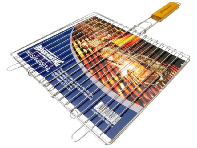 решетка гриль rosenberg складной r 440101 Решетка для барбекю Rosenberg RUS-440003-L