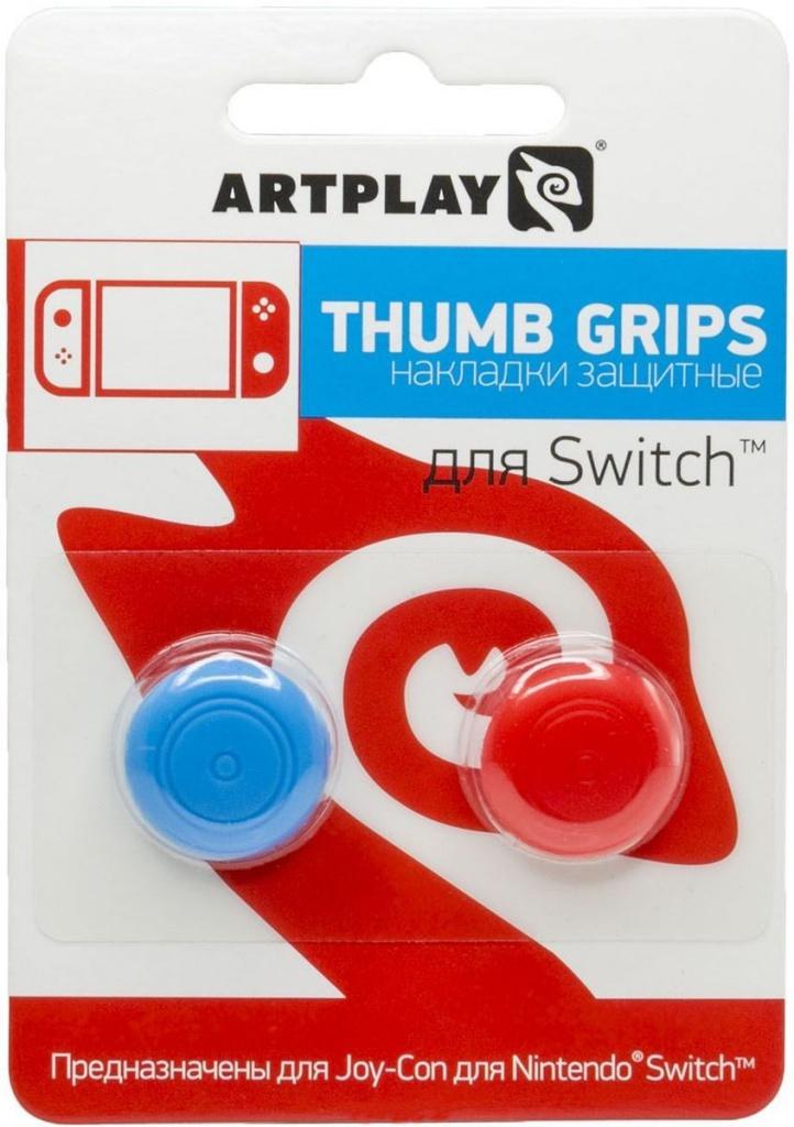 Накладка Artplays Thumb Grips Red-Blue для Nintendo Switch ACSWT18