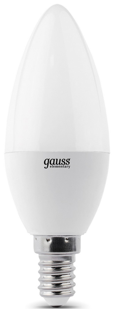 Купить Лампочка Gauss Elementary Candle 7W E14 4100K 33127T 3шт