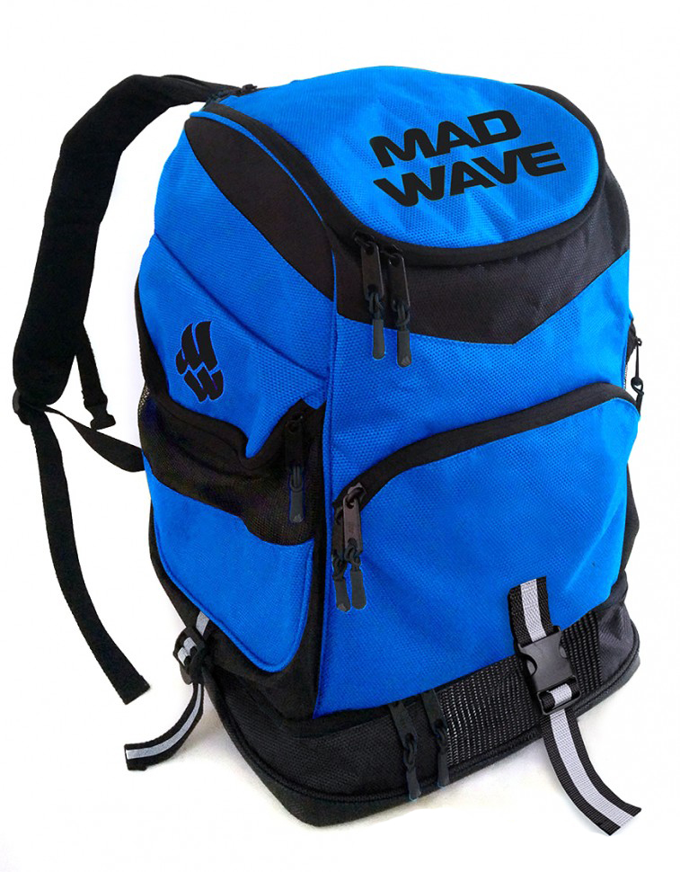 ласты mad wave training размер 33 34 blue m0747 10 2 04w Рюкзак Mad Wave Backpack Mad Team Blue M1123 01 0 04W