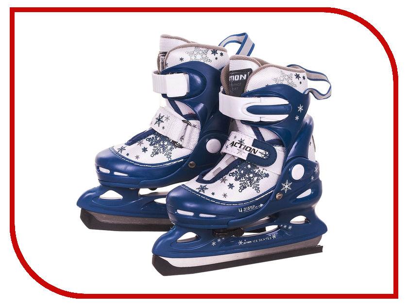 Купить Коньки Action PW-211F-2 р.30-33 Blue-White