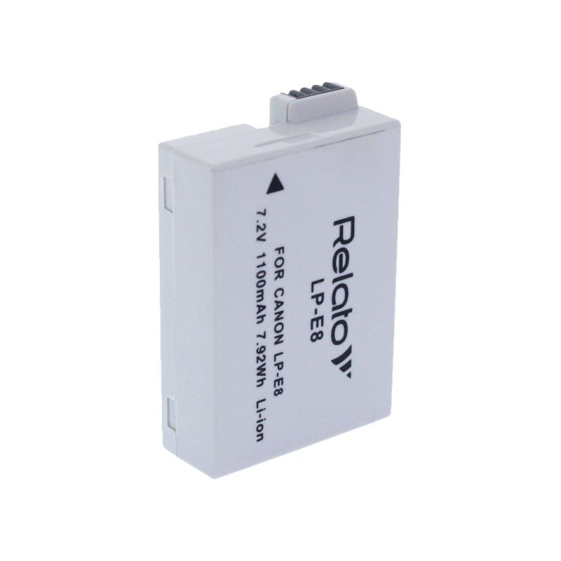 Аккумулятор Relato LP-E8 для Canon EOS 550D/EOS 600D/EOS 650D/EOS 700D / Rebel T2i/Rebel T3i