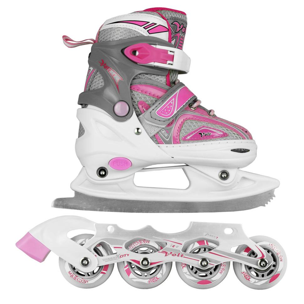 купить коньки граф Коньки Maxcity Volt Ice р.39-42 Pink