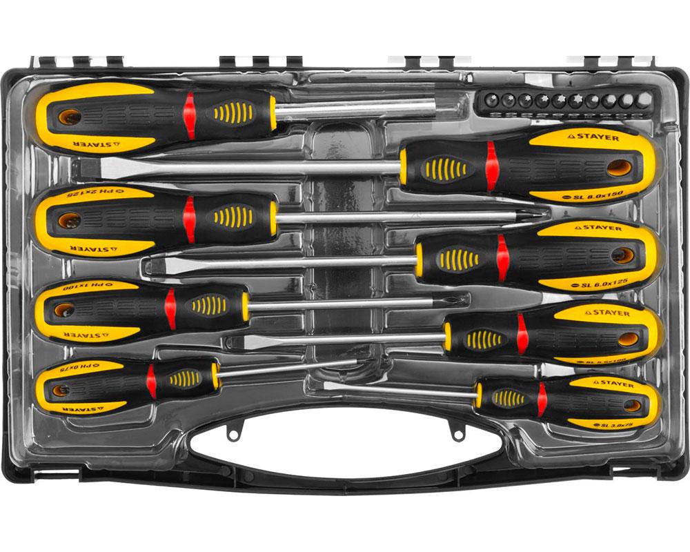 набор отверток stayer profi electro 25145 h6 z01 Набор отверток Stayer Professional ProTech 25133-H8_z02