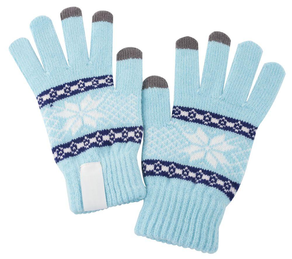 Купить Теплые перчатки для сенсорных дисплеев Проект 111 Snowflake Light Blue 2794.44