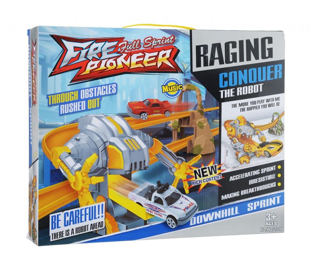игрушка наша игрушка экскаватор снегоуборочный 6655 6 Автотрек Shantou Gepai / Наша игрушка Робот WZ010-6