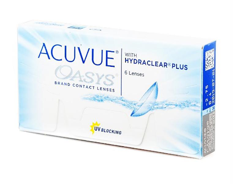 Фото - Контактные линзы Johnson & Johnson Acuvue Oasys with Hydraclear Plus (6 линз / 8.4 / -2.75) контактные линзы alcon air optix aqua 6 шт r 8 6 d 01 00