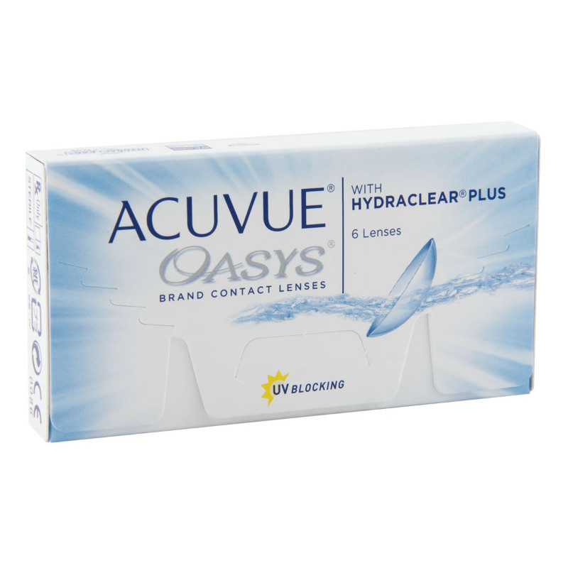 Фото - Контактные линзы Johnson & Johnson Acuvue Oasys with Hydraclear Plus (6 линз / 8.4 / -4) контактные линзы alcon air optix aqua 6 шт r 8 6 d 01 00