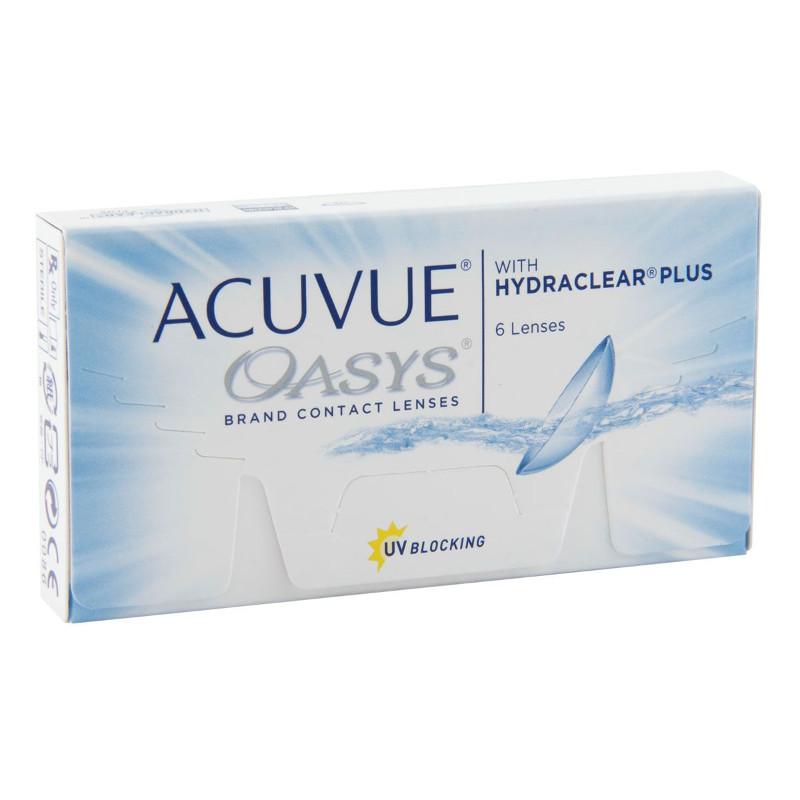 Фото - Контактные линзы Johnson & Johnson Acuvue Oasys with Hydraclear Plus (6 линз / 8.4 / -5) контактные линзы alcon air optix aqua 6 шт r 8 6 d 01 00