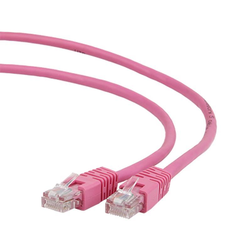 Купить Сетевой кабель Gembird Cablexpert UTP cat.5e 0.25m Pink PP12-0.25M/RO