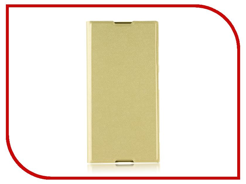 Купить Аксессуар Чехол для Sony Xperia XA1 Plus Brosco PU Gold XA1P-BOOK-GOLD