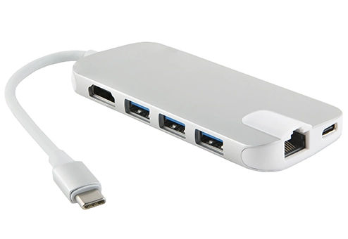 Фото - Адаптер Red Line Multiport adapter Type-C 8-in-1 Silver УТ000013432 3 in 1 type c to hdmi usb3 0 multiport hub adapter with charging converter for macbook chromebook pixel devices
