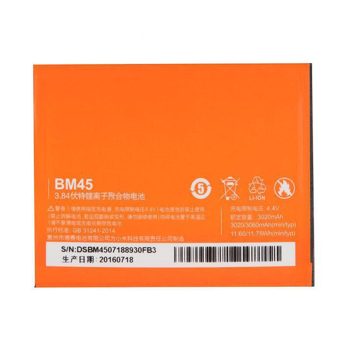 Аккумулятор RocknParts Zip для Xiaomi Redmi Note 2 453607 дисплей rocknparts zip для xiaomi redmi note 4x black 573664