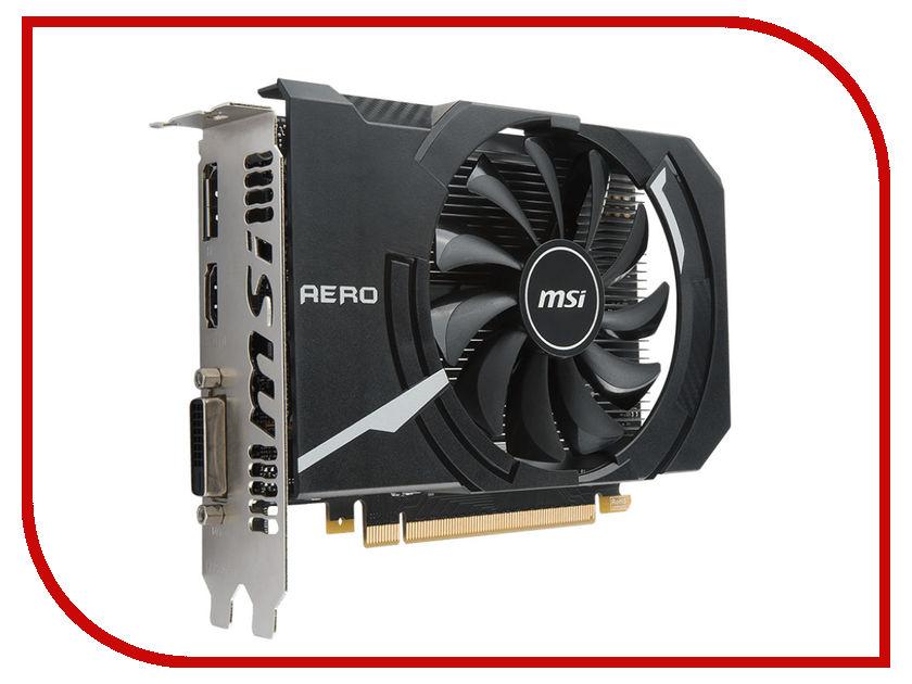 Видеокарта MSI GeForce GTX 1050 Ti 1342Mhz PCI-E 3.0 4096Mb 7008Mhz 128 bit DVI HDMI GTX 1050 Ti AERO ITX 4G OC V1