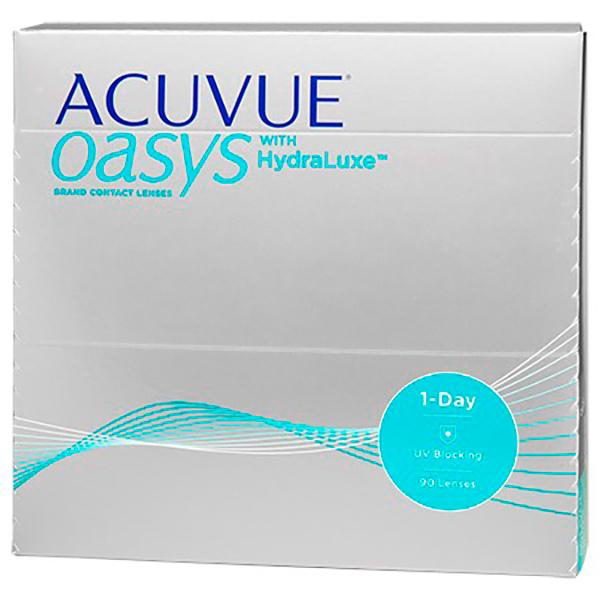 Фото - Контактные линзы Johnson & Johnson 1-Day Acuvue Oasys with HydraLuxe (90 линз / 8.5 / -6) контактные линзы alcon air optix aqua 6 шт r 8 6 d 01 00
