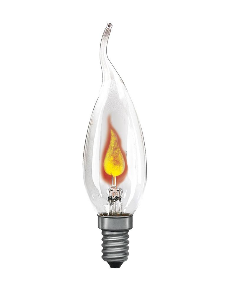 Лампочка Uniel Свеча на ветру CW35 E14 3W 230V 2700K Warm Light IL-N-CW35-3/RED-FLAME/E14/CL