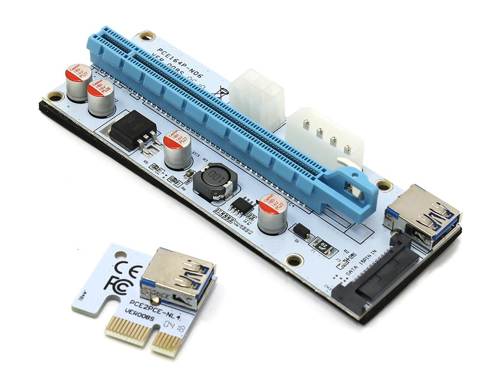 onlime card Аксессуар Адаптер Espada USB Riser Card PCI-E x1 Male to PCI-E x16 Female EPCIeKit03 для майнинга