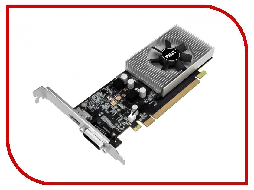 Видеокарта Palit GeForce GT 1030 LP 1227Mhz PCI-E 3.0 2048Mb 6000Mhz 64 bit DVI-D HDMI VGA NE5103000646-1080F